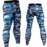 Wade Sea 2018 Men Compression Tight Pants Sports Running Bicycle Fitness Printed Leggings Athletic Training Tigh