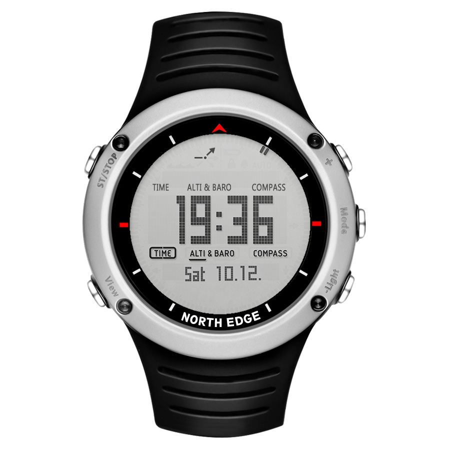 Sports Watches North-Edge Running Compass Digital Swimming Men's Altimeter