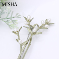 MISHA Natural Pearl Brooches Fine Jewelry For Women Gift Jewelry Store High Quality Leaf shape Handmade Luxury Gift Pins Brooche
