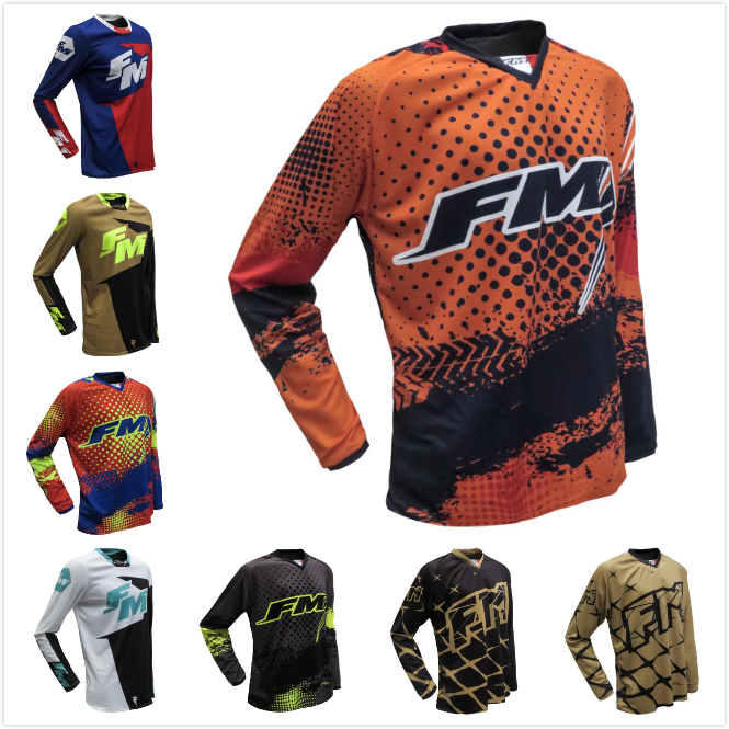 2019 NEW FM Racing Motorcycles Clothes Riding Jersey MX MTB Off Road Mountain Bike DH Bicycle Moto BMX Motocross jerse