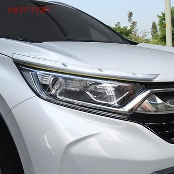 24ce08f73b6d Accesorios de coche cromo ABS Exteriror faro delantero de cejas párpados  tapa etiqueta Trim para Honda CRV CR-V 2017, 2018
