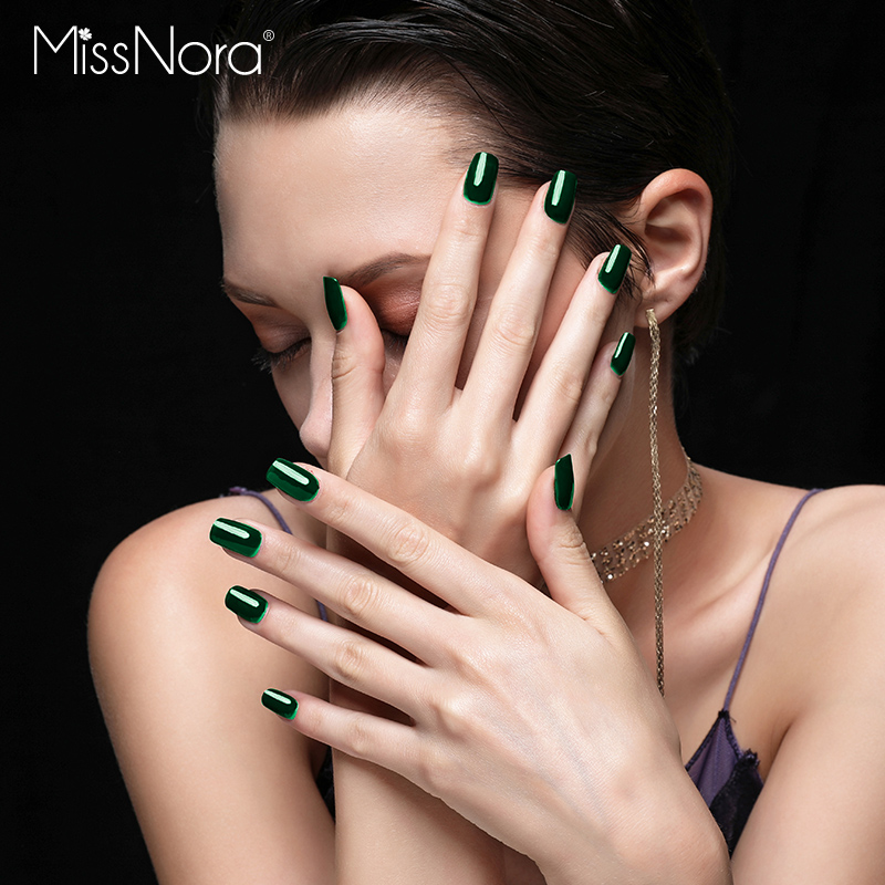 MISS NORA Waterborne Army Green Colors Peel Off Nail Polish Lacquer nail Art Base coating nail design 6ML gel Polish polishes in Nail Gel from Beauty Health