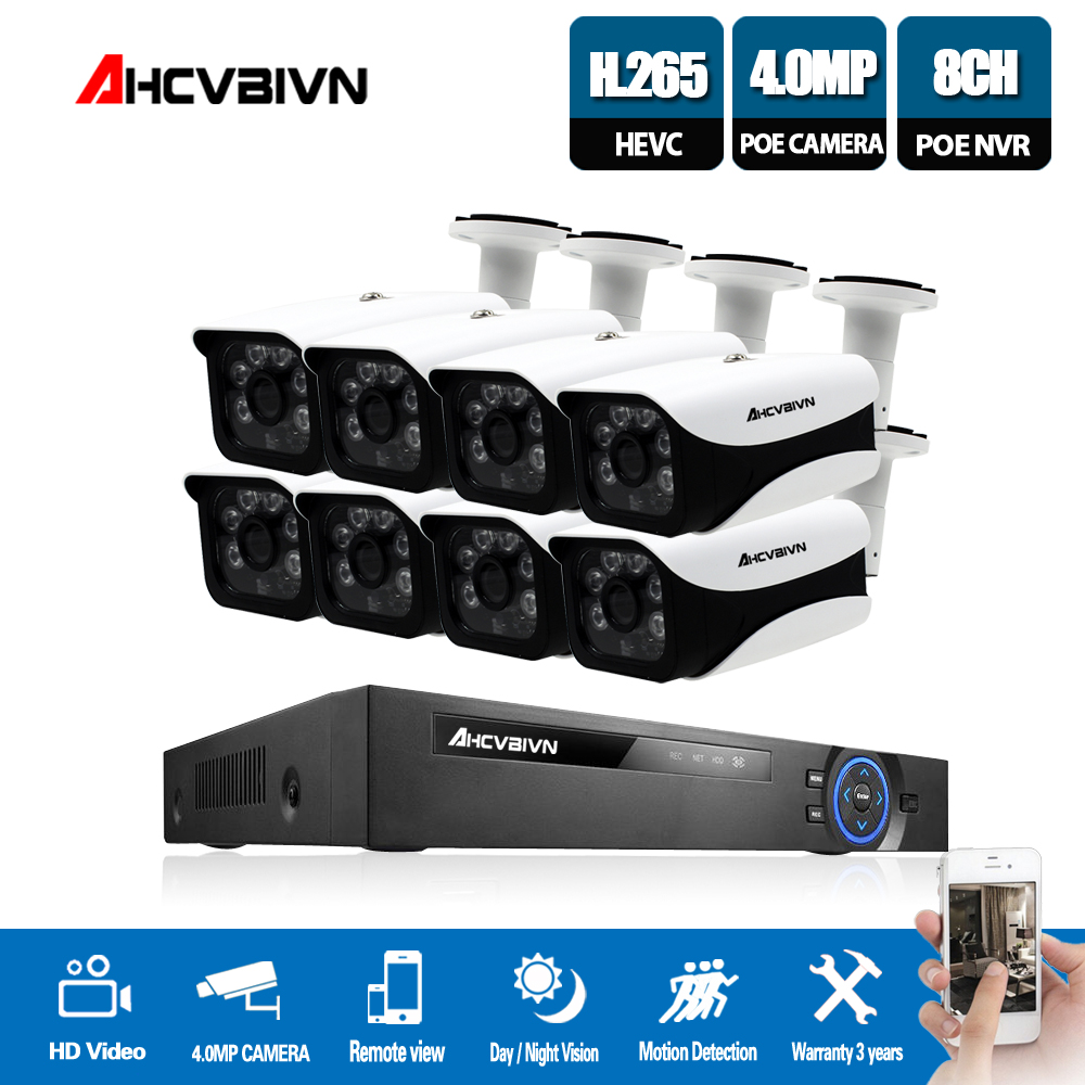 Home 8CH CCTV Camera System 48V POE NVR Kit Onvif 5MP 4.0MP HD POE IP Camera Waterproof Night Vision Security Camera SystemHome 8CH CCTV Camera System 48V POE NVR Kit Onvif 5MP 4.0MP HD POE IP Camera Waterproof Night Vision Security Camera System