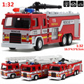 Mini 1:32 scale alloy construction vehicles, pull back model toys cars,Fire truck,Diecast car,free shipping