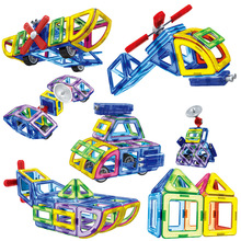 BD New Magnetic Designer Educational Building Blocks Police Series Aircraft 70pcs/Set Assemble Bricks Toys Kids Christmas Gifts