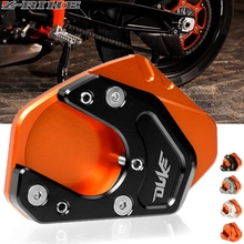 FOR DUKE LOGO Motorcycle CNC Kickstand Foot Side Stand Extension Pad Support Plate For KTM Duke 125 200 390 RC