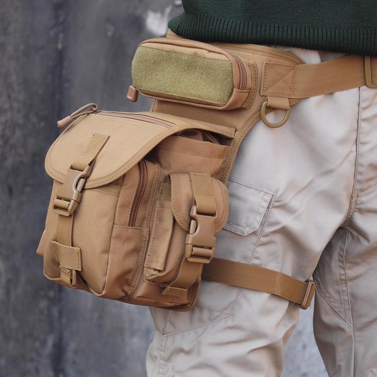 Prix pour Livraison gratuite En Plein Air Multifonctionnel Sac de Jambe Tactique de Chasse Outil Taille Pack Moto Jambe Tour sac de Sport pack Sacs
