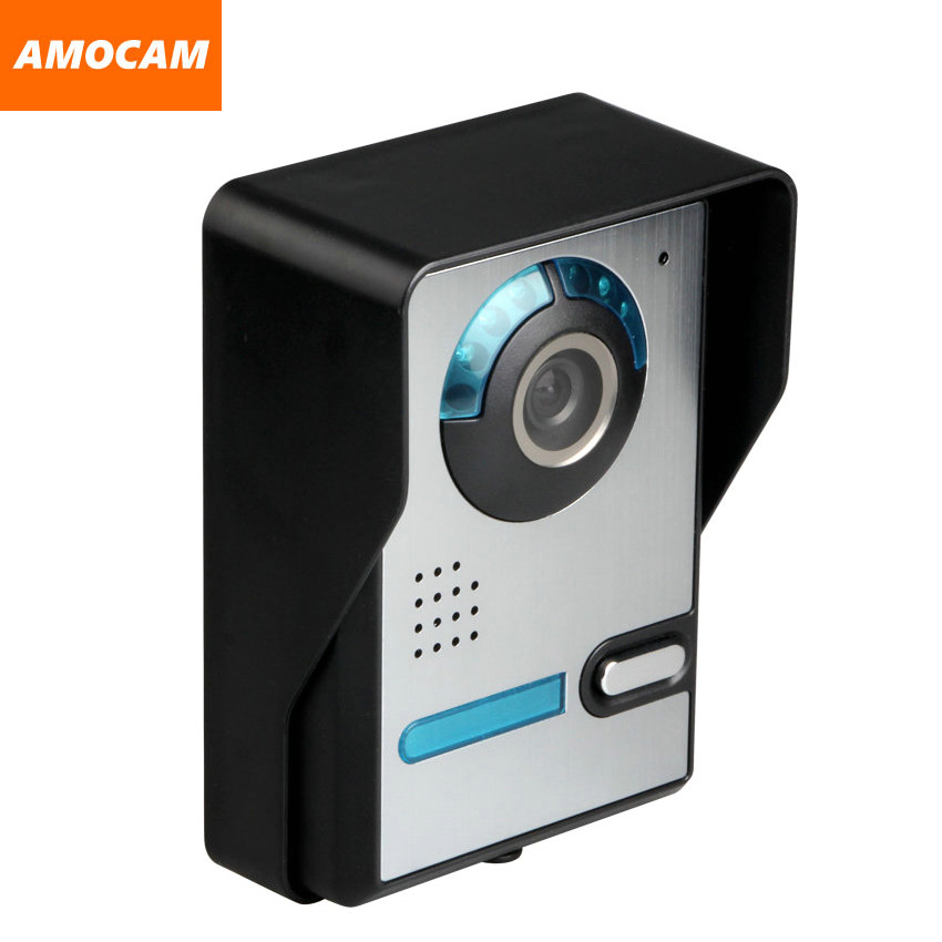 Video Door Phone Intercom Doorbell Camera Aluminium alloy night vision waterproof Camera support 4-core wire monitor