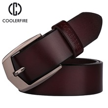 Coolerfire men high quality genuine leather belt luxury designer belts cowskin fashion Strap male Jeans for man cowboy