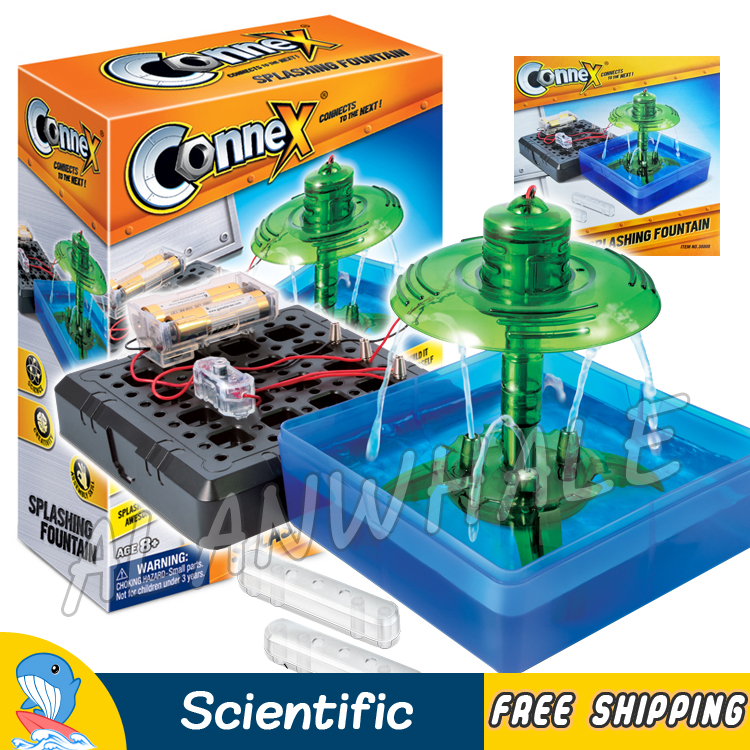 Creative Experiments Splashing Fountain Water Physics Science Set Scientific Kits DIY Model Building Early Education Brain Toys