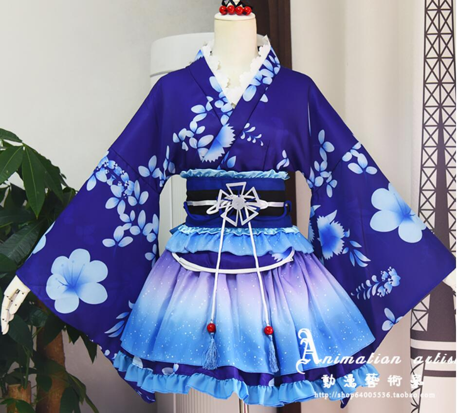 LoveLive Cosplay Sonoda Umi Cosplay Costume Kimono Love Live Nishikino Maki Honoka Honoka japanese lolita Eli Kimono Costume