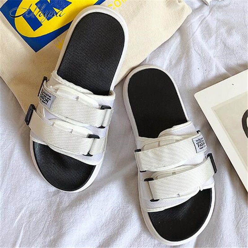 Mhysa 2019 New Sandals One-slip Men's Slippers Outdoor Beach Tide Fashion Couples Drag Men And Women Sandals Outside Shoes M049
