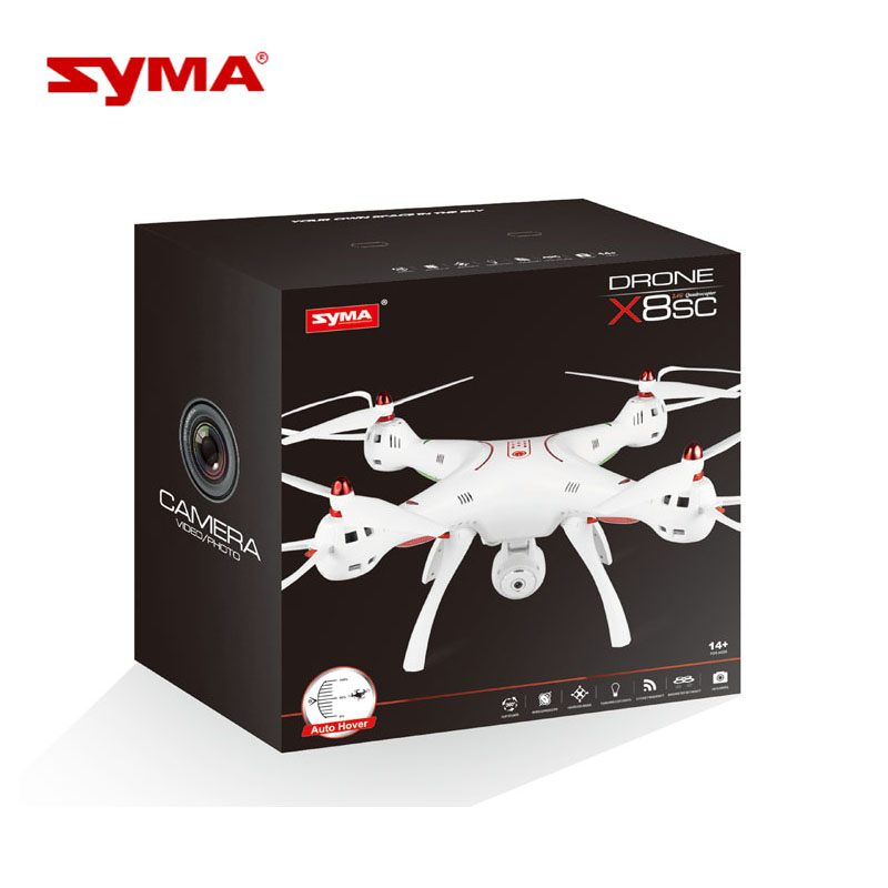 Popular Sales Syma X8SW Quadrocopter RC Helicopter Drone FPV HD Camera Remote Control 2.4G 4CH Gyroscope mjx x906t mini rc drone 6 axis gyro quadrocopter rc fpv drone helicopter hd camera wifi mando remote control copter toy