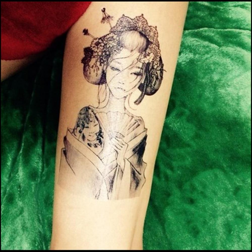 Pattern waterproof arm sleeve body shoulder temporary tattoo sticker - Vampire Girl Pattern 3d Tattoo Waterproof Men Temporary Tattoo Arm Sticker Sleeve Body Tattoo Shoulder Flash Tattoos In Temporary Tattoos From Beauty