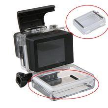 Gopro Hero3 +/4 Case Boîtier Étanche Backdoor Aller Pro Porte Arrière pour Écran LCD Bacpac pour Gopro Caméra Hero 3 + Plus accessoires