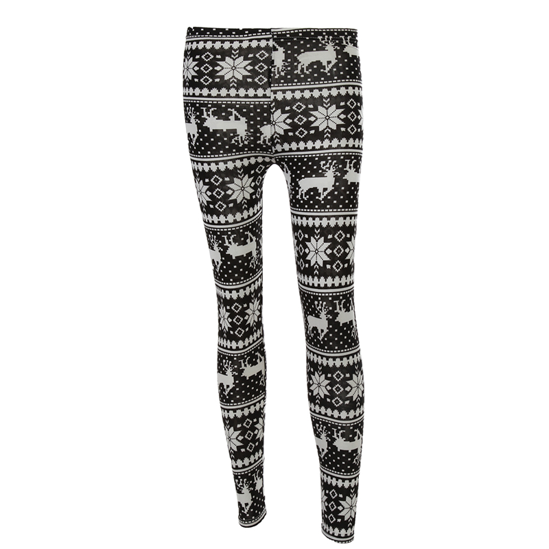746766d972 Women Fashion 2019 Winter Warm Straight Fit Pant Snowflake Legging All  Match Christmas Deer Snow Pant-in Leggings from Women s Clothing on  Aliexpress.com ...