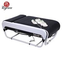BYRIVER отца день подарок Электрический Smart камня нефрита 3D V3 складной Корея массажная кровать стол массажер