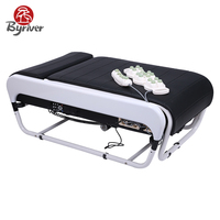 BYRIVER Father Day's Gift Electric Smart Jade Stone 3D V3 Foldable Korea Massage Bed Table Massager