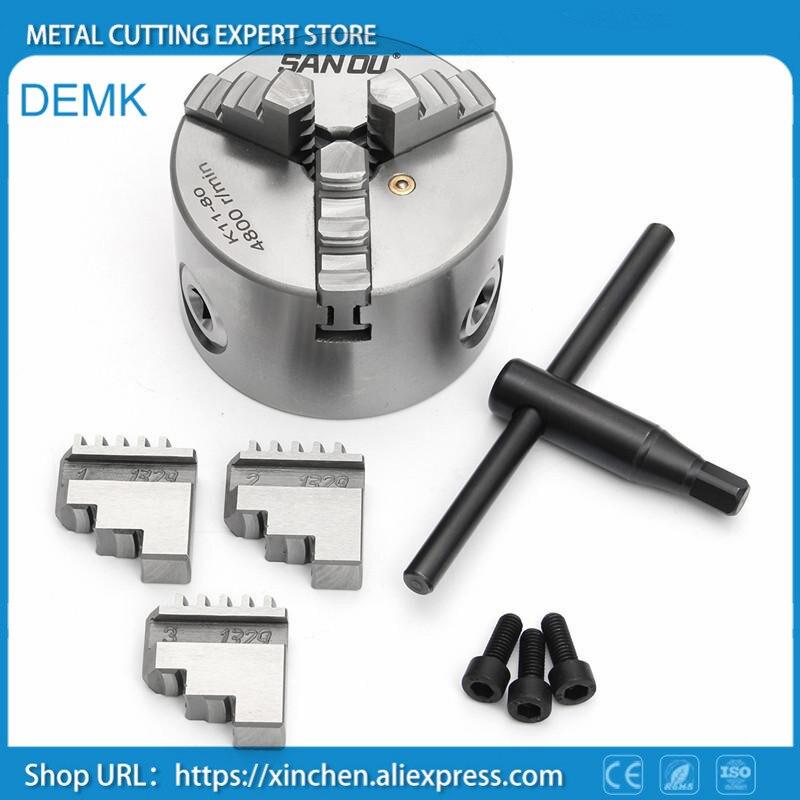 K11-80 high-precision three/3 jaw chuck self-centering chucks 80mm 3 inch for Mechanical lathe,Mini lathe цена