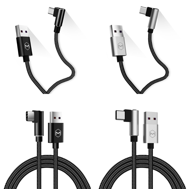 OOTDTY 90 Degree Type C Cable Max 5A Fast Charging For