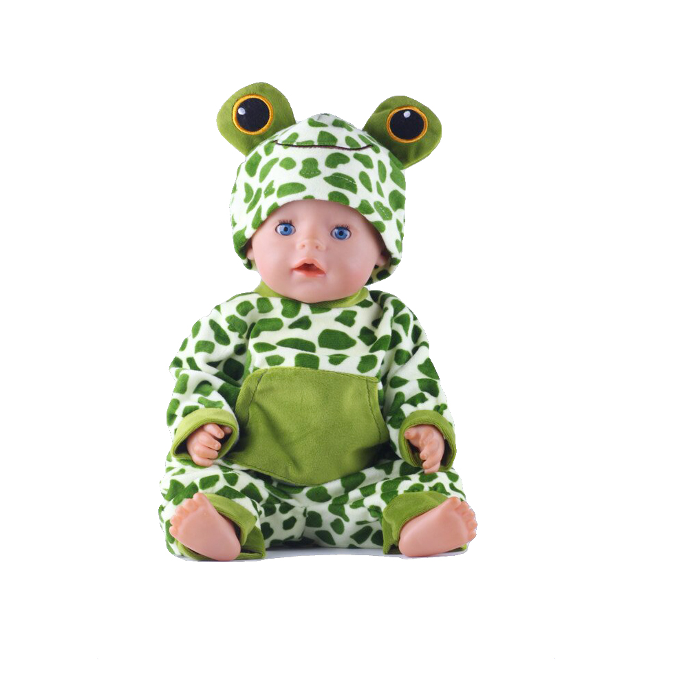 Frog Design Doll Clothes Wear fit 18 inch American Girl,43cm Baby Born zapf, Children best Birthday Gift N479 2color choose leisure dress doll clothes wear fit 43cm baby born zapf children best birthday gift only sell clothes
