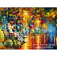 Products For Crafts Diamond Embroidery Kiss Lover Painting Rhinestones Mosaic Kit Pictures Of Crystals Pattern Hobby