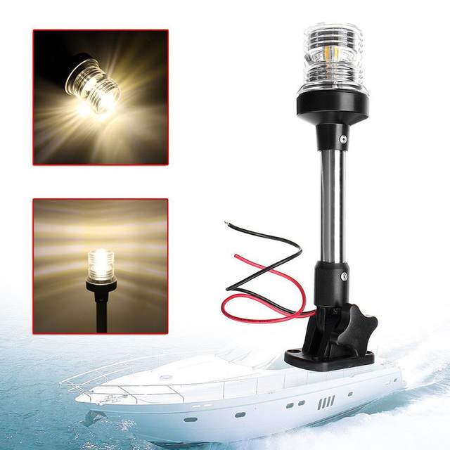 marine boot verlichting lamp pontoon bright beacon led navigation stern anchor pole light 360 illumination indicator