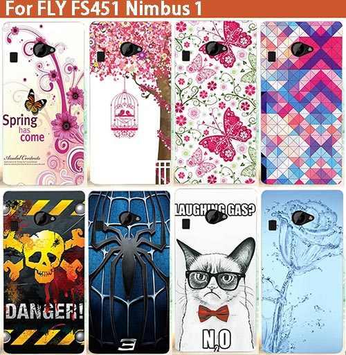 Funda de PC dura de flores de cristal de calavera de araña a la moda para Fly FS451 Nimbus 1 fundas de teléfono duras para Fly fs451 pura