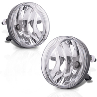 For 2007 2013 Gmc Sierra Clear Front Bumper Fog Lights Driving Lamp With Bulbs Pair Gm2592161 / Gm2593161