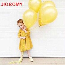 JIOROMY New Arrival 2017 Girl Dress Princess Long Sleeve Cotton Dress Brand of High Quality Children