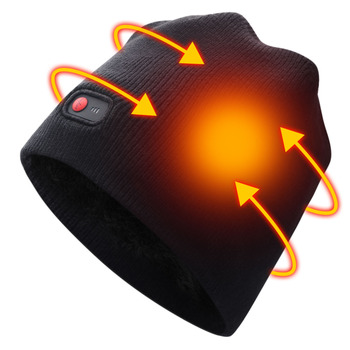 7.4V Battery heating hat keep warm winter outdoor sports heat therapy caps quick heating head warmer 3 levels control