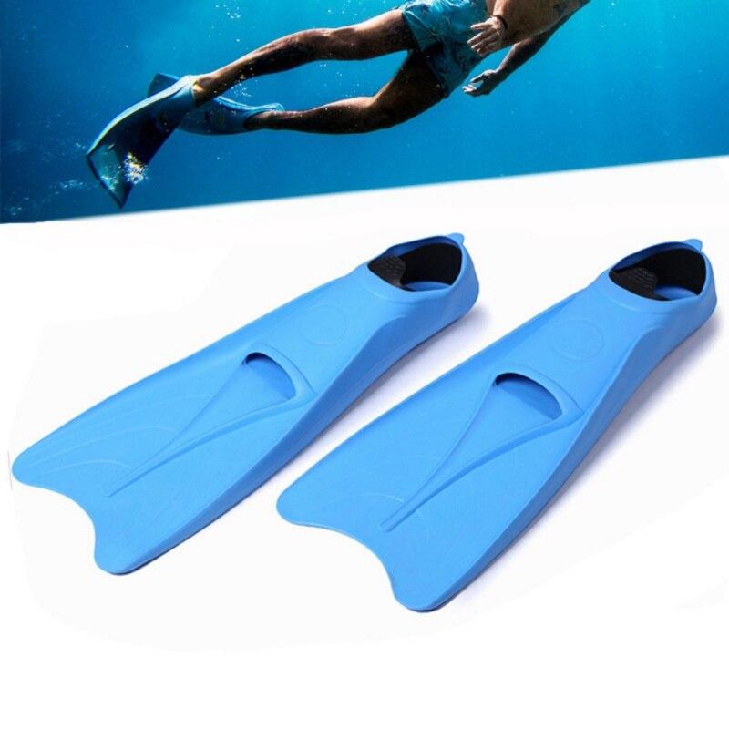 Palmes d'entraînement en Silicone chaussure de natation pied M-XL de plongée en apnée palmes submersibles professionnelles palmes submersibles plongée Flexible