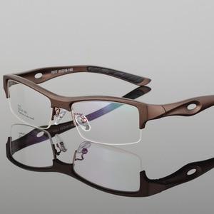 Image 3 - BCLEAR مشهد إطار جذاب رجالي تصميم مميز ماركة مريحة TR90 نصف إطار مربع نظارات رياضية إطار نظارات