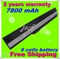 Jigu nueva 7800 mah reemplazo de batería para portátil asus caliente K42 K52 A52 A52F A52J A31-K52 A32-K52 A41-K52 A42-K52 Envío gratis