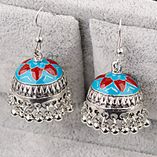 OIQUEI Antique India Jhumka Jhumki Jewelry Earrings For Wome