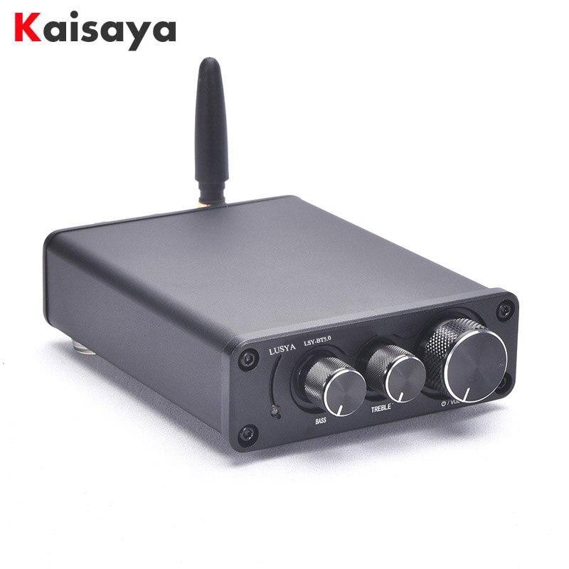 50W * 2 Bluetooth 5.0 TPA3116D2 HiFi amplificateur de puissance carte finie en étui Audio à la maison TPA3116 Amp avec des basses aigus I4-005-6-7
