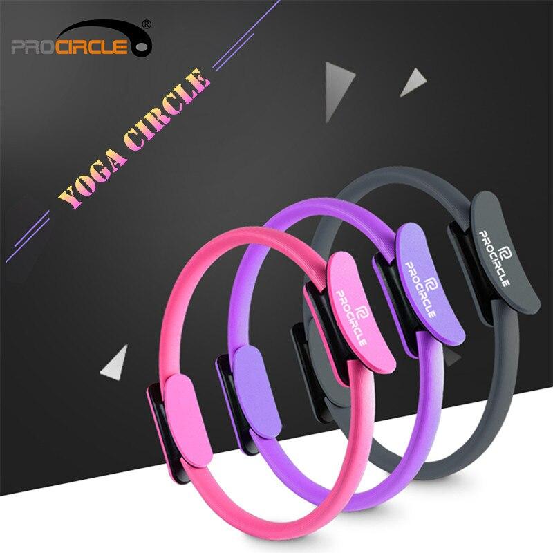 ①  ProCircle Профессиональный Фитнес Йога Круги Пилатес Кольцо Йога Колесо Прочный 3 Цвета ①