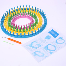 Compare Prices 4 Size Knitting Loom Kit Round Circle Flower Loom with Hook and Needle Scarf Hat Knitter DIY Sewing Tools 13cm 18cm 23cm 28cm