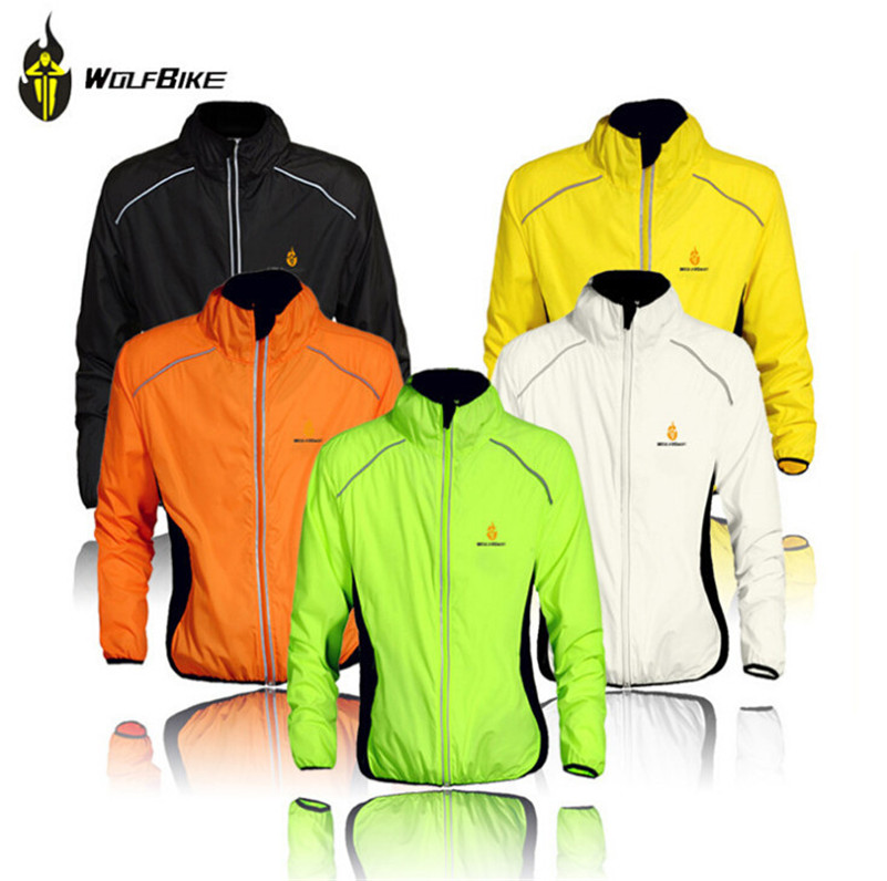 WOLFBIKE Cycling Jacket Windproof Quick Dry Men Sportswear Jersey Bicicleta Ciclismo Maillot MTB Cycling Raincoat Clothing