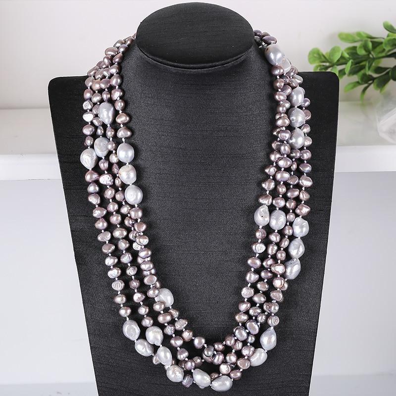 JIUDUO collier de perles d'eau douce de couleur naturelle Pure baltique collier de perles pour femmes