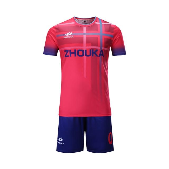 3d2eba73fd4 2019 polyester soccer jersey customize Adults Kids plain soccer jersey  Sports clothes breathable men s soccer jersey sets