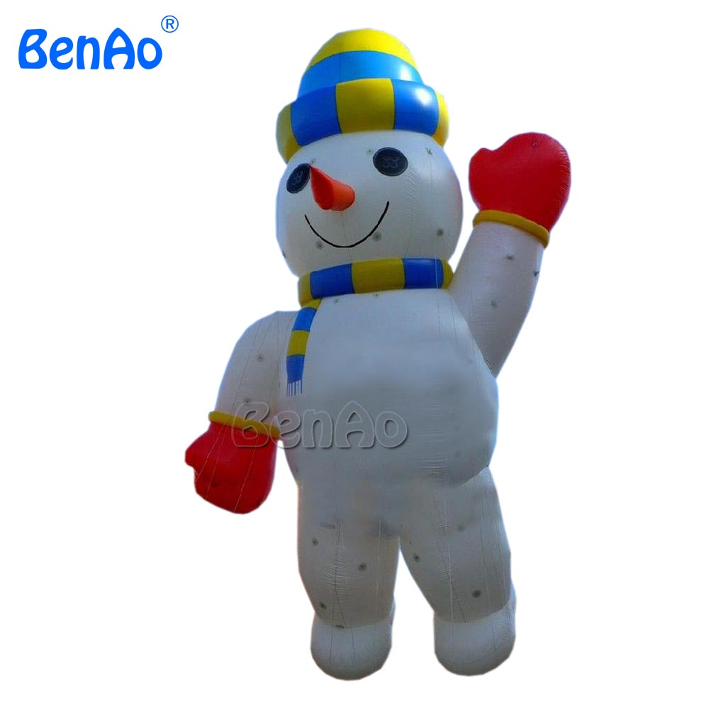 X165  say hello happy snowman balloons big inflatable Christmas presents/Christmas decoration /Christmas products to celebrate 2017 hot selling christmas decoration inflatable snowman