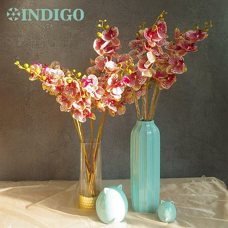 Phalaenopsis Orchid Silk Real Touch Blomma Vit Konstgjord Blomma - Semester och fester - Foto 3