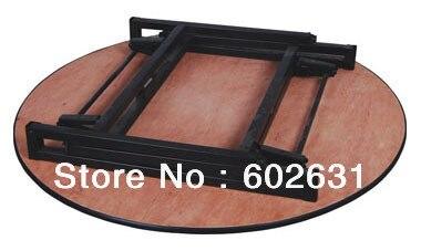 4 фута складной круглый банкетный стол, фанера 18 мм с ПВХ(белый) верхней части, стальные складные ноги, 2 шт/коробка, быстрая