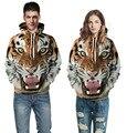 Женщины Мужчины толстовки хип-хоп толстовка забавный 3D Тигр Лев мода марка плюс размер толстовка мужчины спортивный костюм мужской Отдых пуловеры