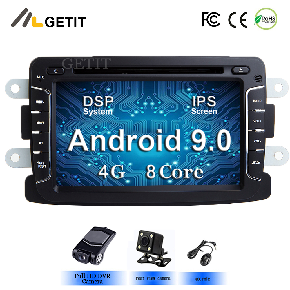4G Car Multimedia DVD player Android 9 Automotivo 2 Din For Dacia Sandero Duster Renault Captur