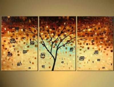 3pcs Hand Painted Canvas Painting The Fifth Season Modern Canvas Art ...