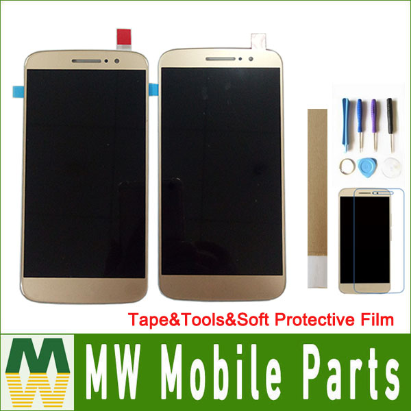 5.5 inch For Motorola Moto M <font><b>XT1662</b></font> XT1663 <font><b>LCD</b></font> Display+Touch Screen Black White Gold with tape&tools&soft protective film image