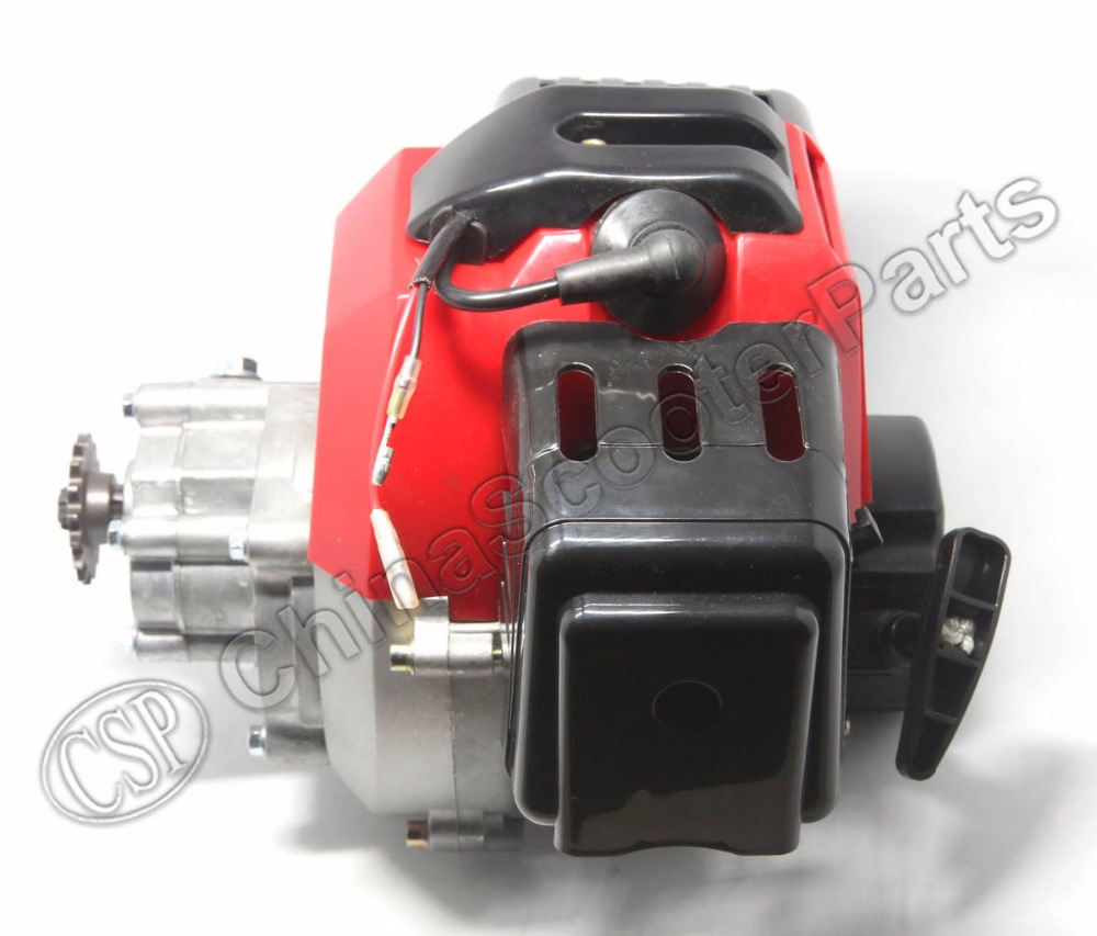 49CC Engine Plastic Pull Start 15MM Carburetor Plastic Mini Moto Pocket ATV Quad Buggy Dirt Pit Bike Chopper Gas Scooter 49cc engine plastic pull e start 13mm carburetor 2 stroke 47cc 49cc plastic mini moto pocket atv quad buggy dirt pit bike
