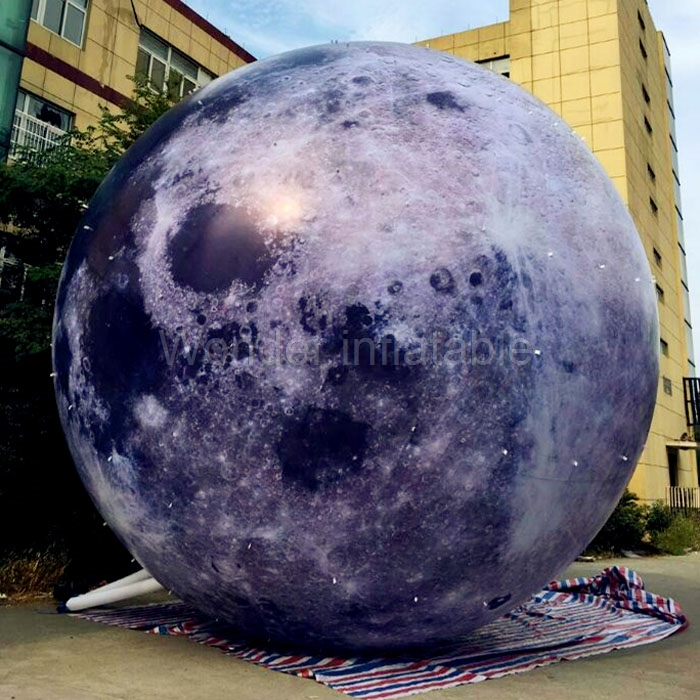 High quality outdoor 13ft giant inflatable moon ball with LED light inflatable planet balloon for advertising